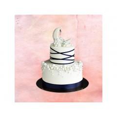 Ramadan White Design Cake