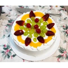 Fruit Birthday White Cake
