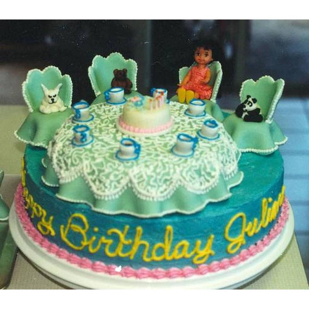 Fantastic Tea Party Birthday Cake Funny Birthday Cards Online Necthendildamsfinfo