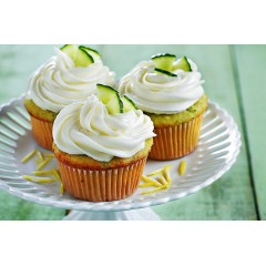 Cucumber Lemon Cupcakes