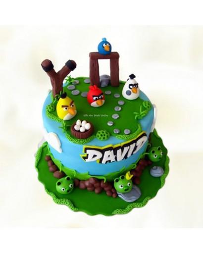 Angry Birds Piggy Theme Cake