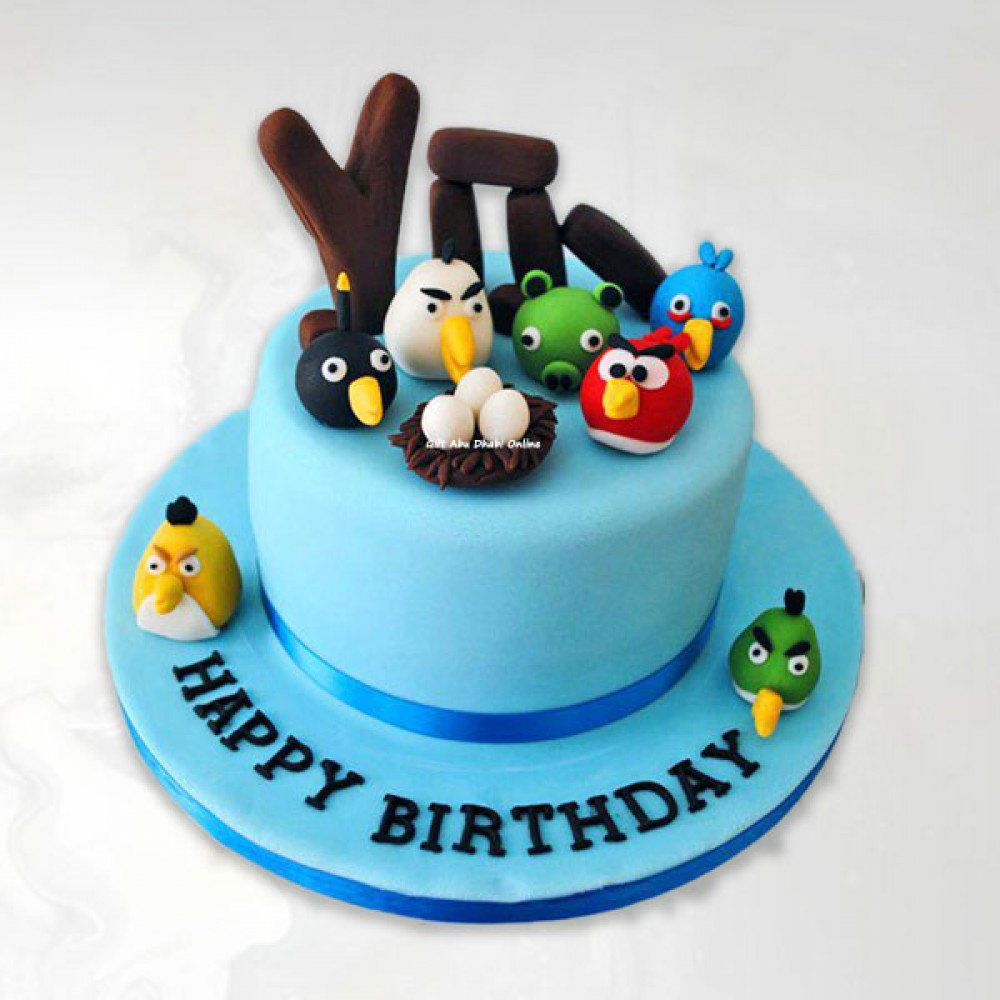 Excellent Angry Birds Birthday Cake Gift Abu Dhabi Online Funny Birthday Cards Online Overcheapnameinfo