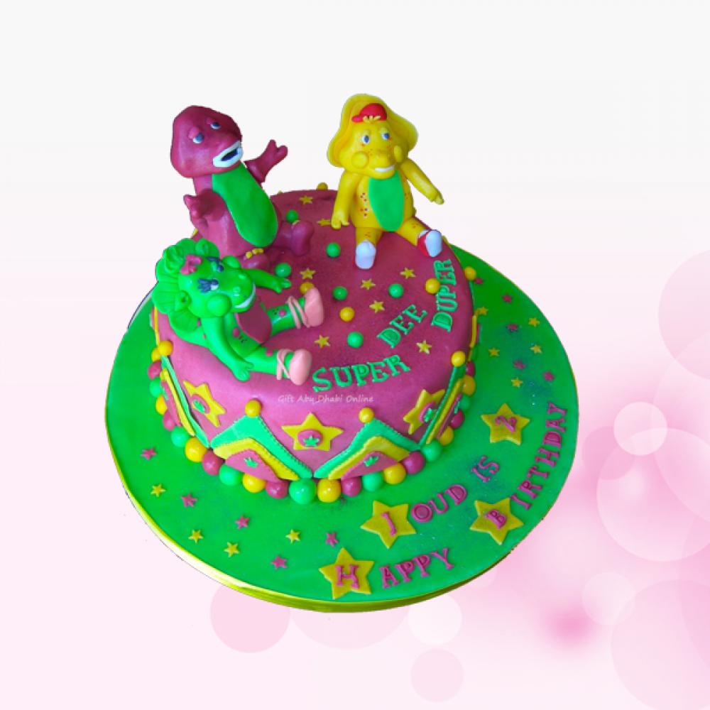 Swell Barney Theme Birthday Cake Gift Abu Dhabi Online Funny Birthday Cards Online Necthendildamsfinfo