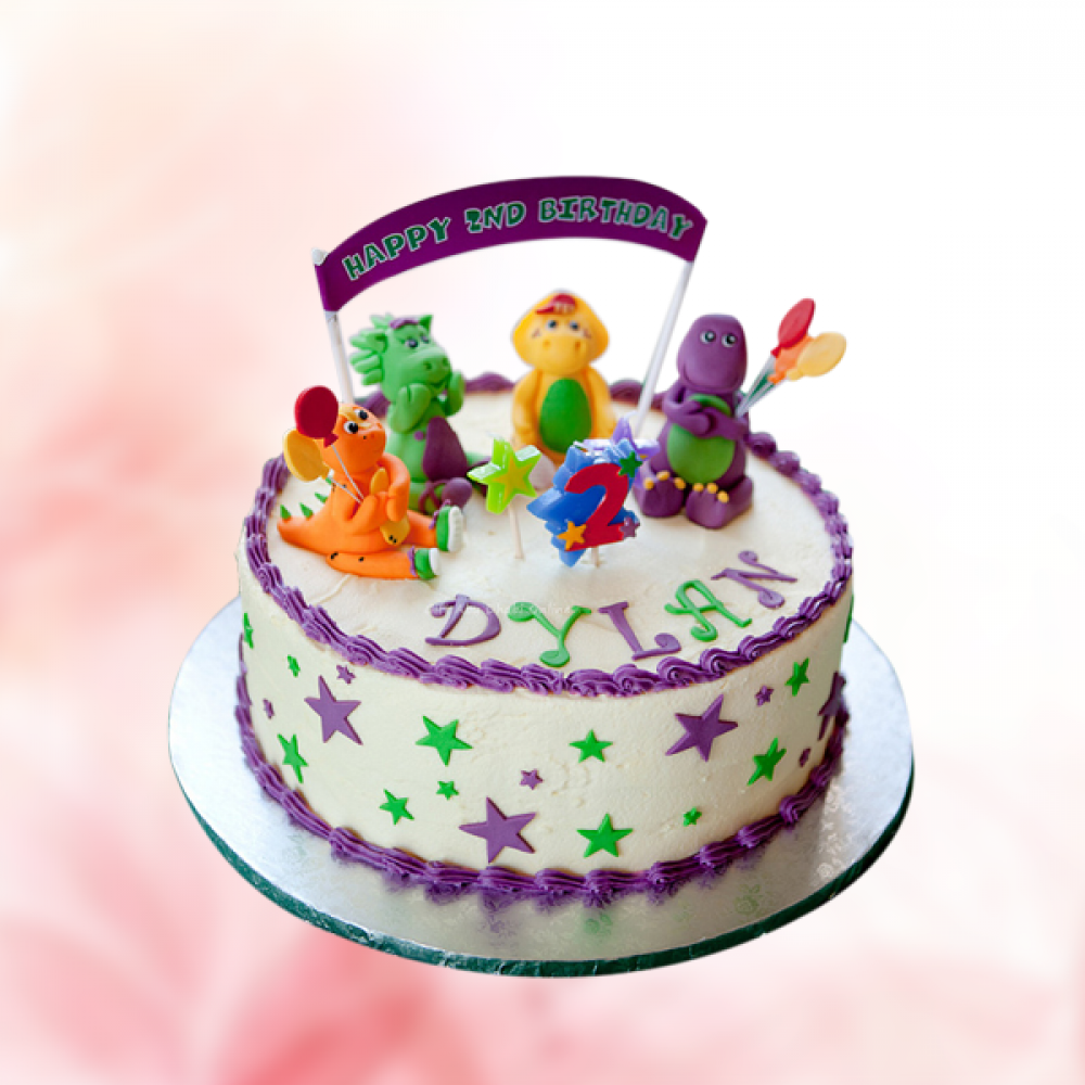Swell Birthday Barney And Friends Cake Gift Abu Dhabi Online Personalised Birthday Cards Cominlily Jamesorg