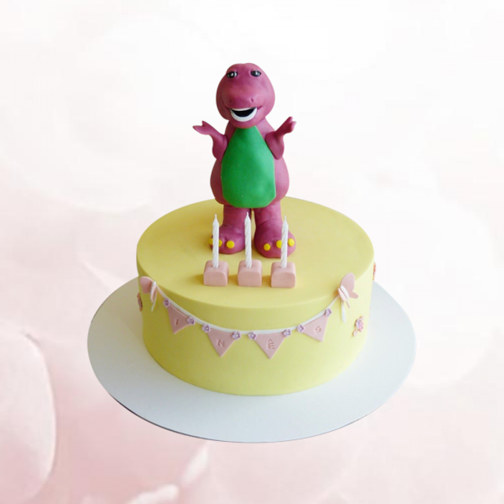 Super Barney Birthday Cake Gift Abu Dhabi Online Personalised Birthday Cards Cominlily Jamesorg