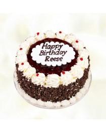 Happy Birthday Black Forest Cake