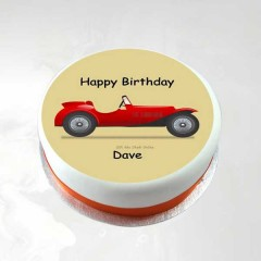 Car Design Happy Birthday Cake