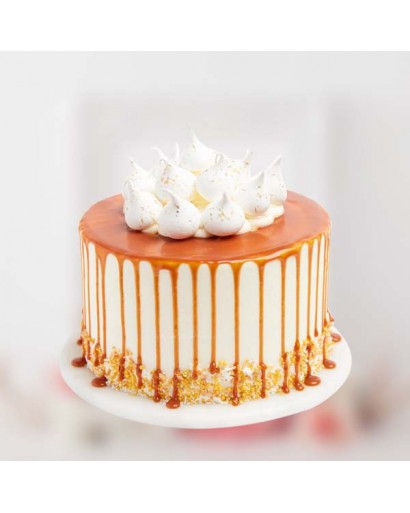 Vanilla Buttercream Caramel Cake