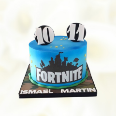 Blue Fortnite Cake