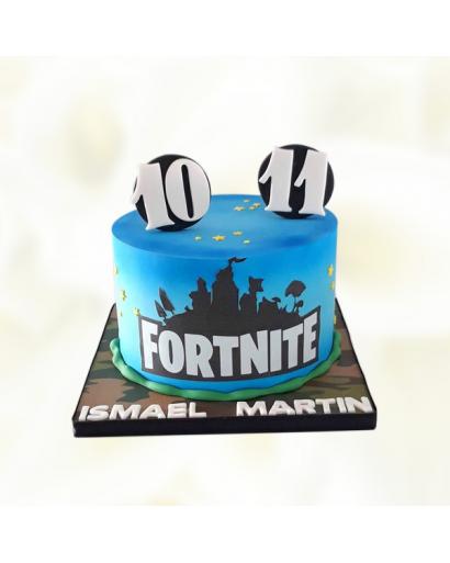 Blue Fortnite Cake