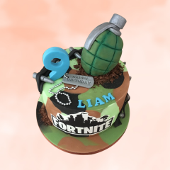 Fortnite Cake with Grenade
