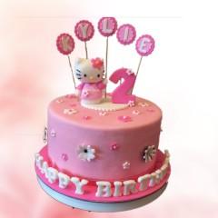 Fondant Hello Kitty Cake