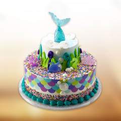 Deep Sea Mermaid Tail Cake