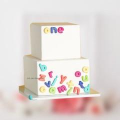 Alphabet Theme Cake