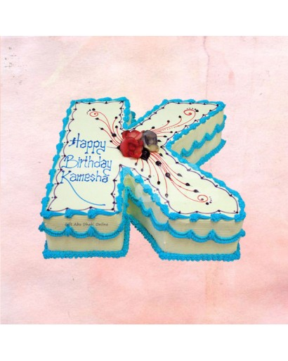 Birthday Alphabet Design Cake
