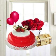 Strawberry Cake Combo Gift