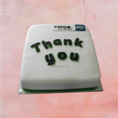 Thank You Corporate Cake