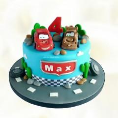 Lightning Mcqueen Theme Cake