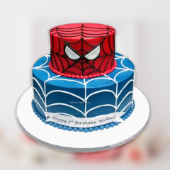 2 Tier Spiderman Cake