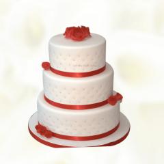 Three layer Round Wedding Cake