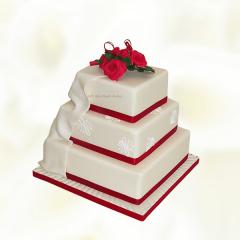 Three Layer Square Wedding cake