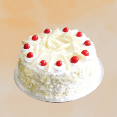 Vanilla White Forest Cake