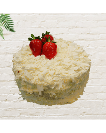Strawberry White Forest Cake