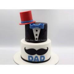 Dad Cake with Cap design
