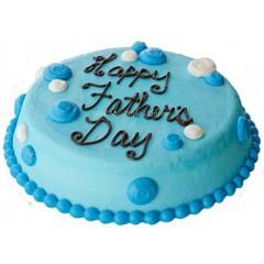 Blue Cream Father's Day Cake