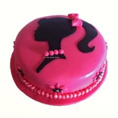 Round Barbie Cake