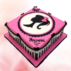 Square Barbie Cake