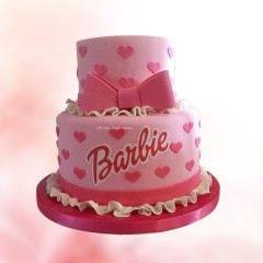2 Layer Barbie Cake