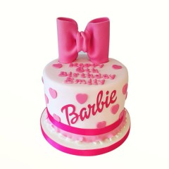 Barbie Bow Tie Cake