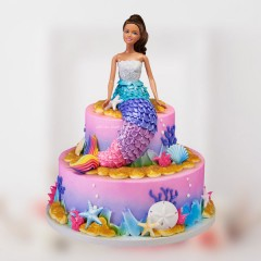 2 Tier Mermaid Cake