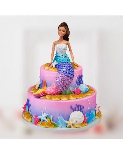 2 Tier Mermaid Cake