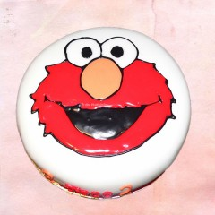 Simple Elmo Cake