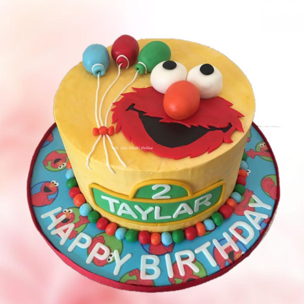 Remarkable Elmo Birthday Cake Gift Abu Dhabi Online Personalised Birthday Cards Paralily Jamesorg