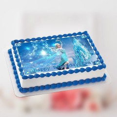 Edible Birthday Frozen Cake