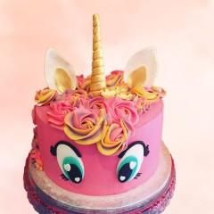 Pink & Gold Unicorn Cake