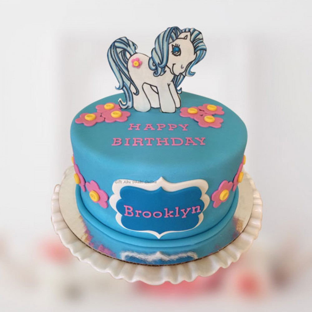 Astonishing My Little Pony Birthday Cake Gift Abu Dhabi Online Personalised Birthday Cards Arneslily Jamesorg