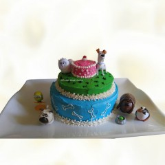 3 Layer Pets Animal Cake