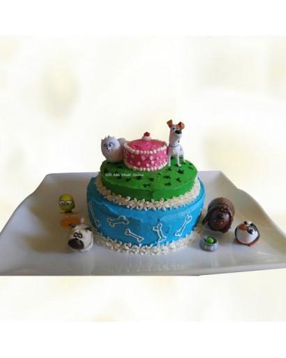 3 Layer Pets Animal Cake