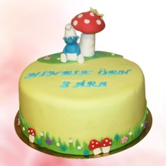 Classic Smurf Cake