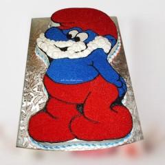 Fondant Smurf Cake