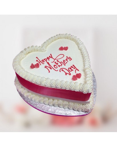Heart Shaped Mothers Day Cake