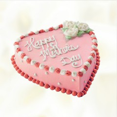 Mothers Day Heart Cake